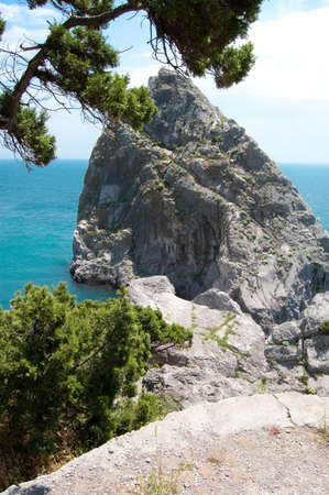 rock and beach in Simeiz