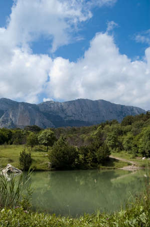 Lake Mountains Landscape Stock Photo