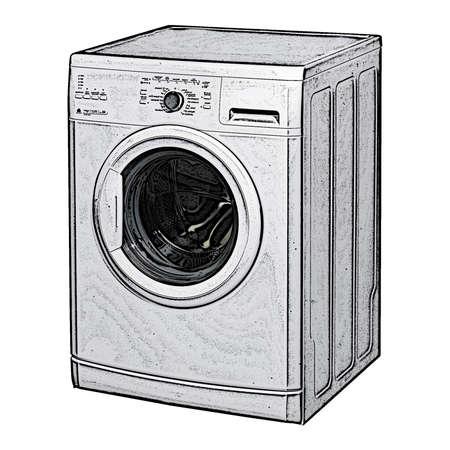 appliance: Washing appliance white background