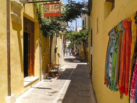 kreta: Small street in Rethimno Editorial