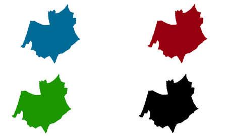 City of Oftringen map silhouette in switzerland