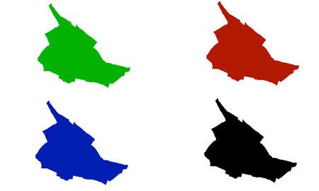 Orbe city map silhouette in switzerland