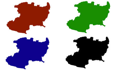 Michoacan country map silhouette in Mexico