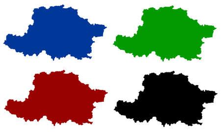 design silhouette map of the city of Arad in Romania