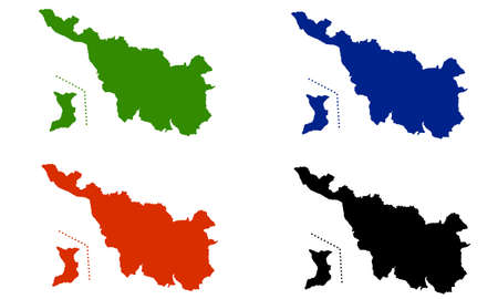 Silhouette design of the country of Bremen in Germany Vetores