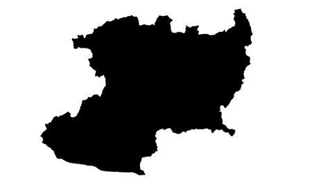 Michoacan country map silhouette in mexico Ilustración de vector