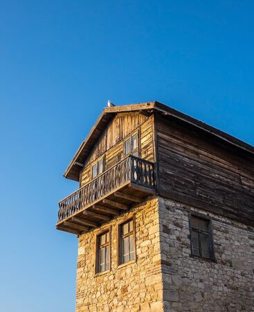 old town: Old Town Nessebar Old Building Stock Photo