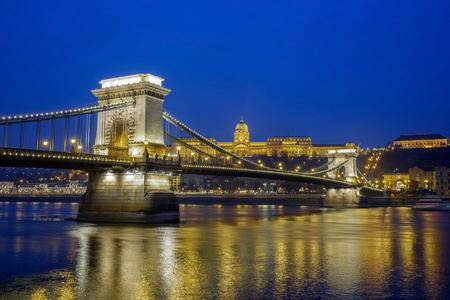 hungarian: Chain Bridge in Budapest 1 Stock Photo