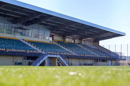 tribune: Soccer stadium tribune