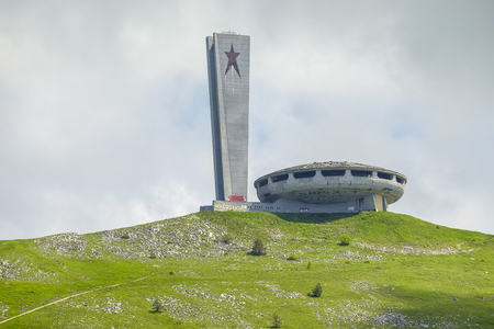 Old soviet building in bulgarian mountain 6