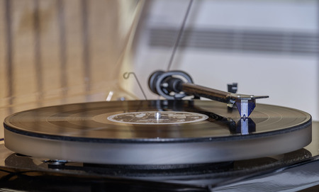 Vintage vinyl record player 写真素材