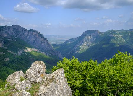 Panorama of stony hills 1 Stock Photo
