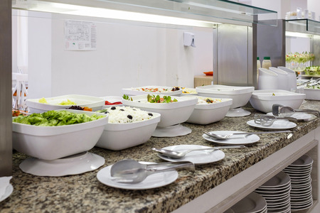 Buffet with fresh salads and snacks 1