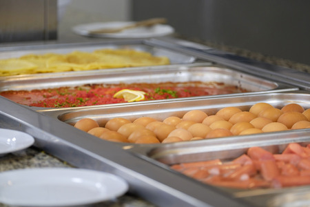 Delicious breakfast buffet close-up 1 Stock Photo
