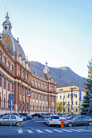 Prefecture building in the center of Brasov City 1 Фото со стока
