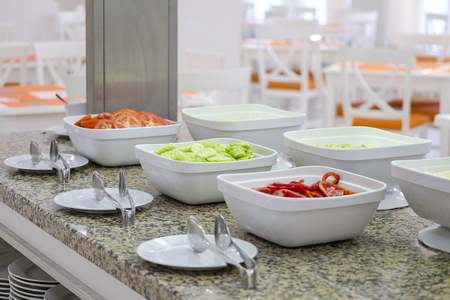 Delicious and fresh breakfast buffet with vegetables 1