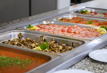 Delicious breakfast buffet close-up 6 Stock Photo