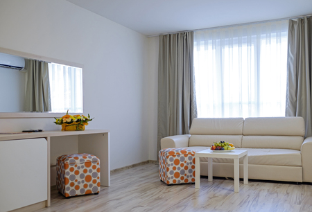 Modern and bright hotel room interior details 3