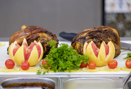 Buffet with grilled meat and vegetables 3
