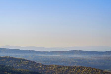 Foggy bulgarian mountain landscape in autumn 1