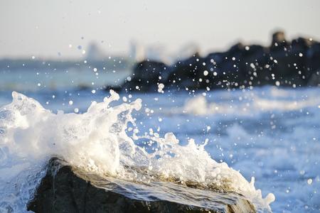 Colorful sea waves splashes 4 Imagens