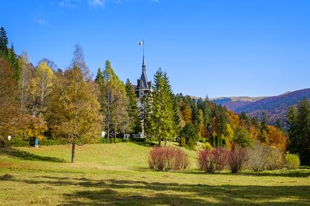 Countryside landscape in the mountains near Sinaia, Romania in autumn 4