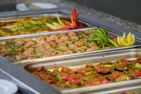 Buffet with tasty main dishes 1