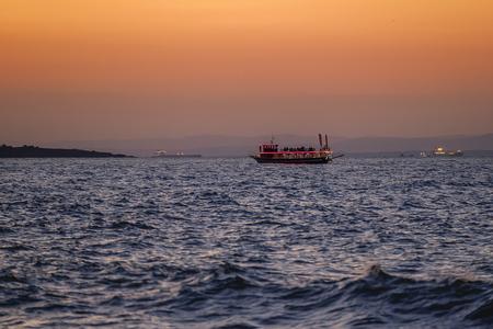 Beautiful Orange sunset over the bay 1