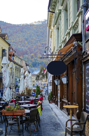 Old streets in the center of Brasov, Romania 6