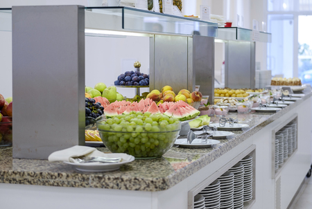 Buffet with fresh fruits and desserts 11