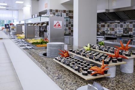 Long buffet with fresh japanese kitchen 1