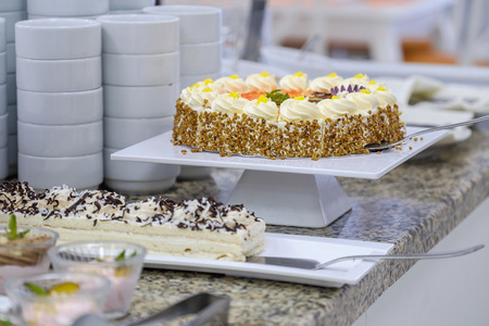 Buffet with fresh fruits and desserts 8