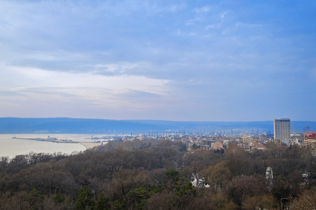 Early morning panorama of Varna city 2
