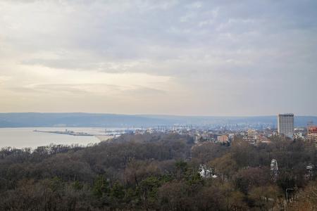Early morning panorama of Varna city 4