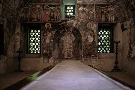 Interior of Bachkovo anceient monastery dinning room 2