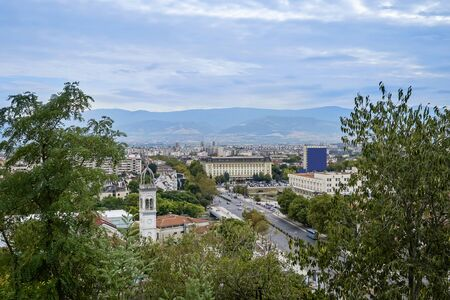 Panoramic view of Plovdiv City in summer time 1