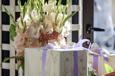 Wedding table, decorations, food and gifts 4