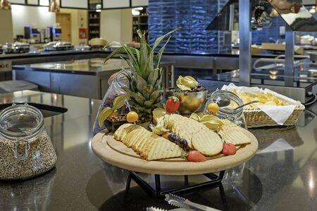 Food at buffet in hotel restaurant kitchen 1