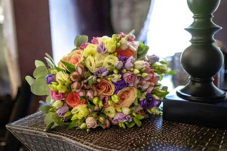 Beautiful colorful bouquet for the wedding Stock fotó