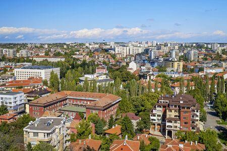 Haskovo city panoramic view in summer 1 Stock fotó
