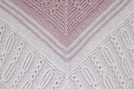 Knitted scarf pattern close up 2