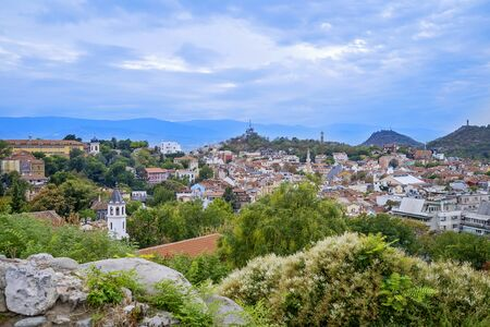 Panoramic view of Plovdiv City in summer time 4