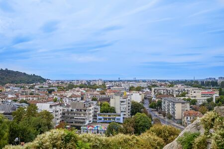 Panoramic view of Plovdiv City in summer time 6