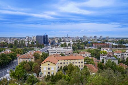 Panoramic view of Plovdiv City in summer time 9 Stock fotó