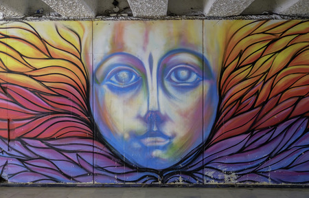 Colorful Street art in Plovdiv city 1