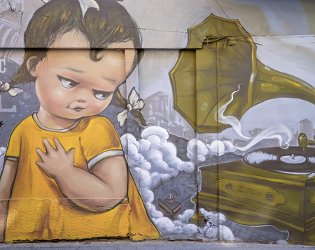 Colorful Street art in Plovdiv city 2