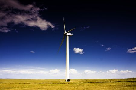 Prairie wind turbine photo
