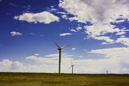 Prairie wind turbine photo