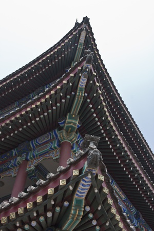 Chinese-style building - eaves top Stock Photo