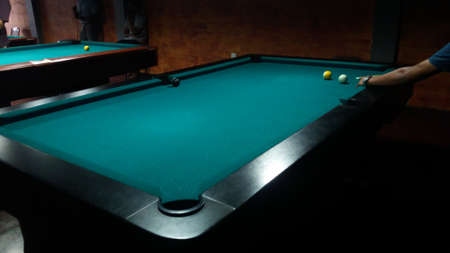 table: pool table Stock Photo